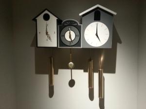 Clocks in The Brice Hotel lobby