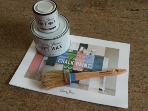 Annie Sloan Chalk Paint color chart, brush and waxes