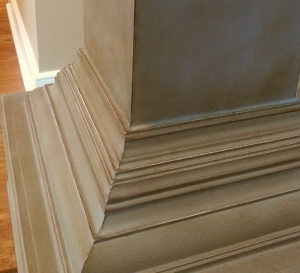 "Pedestal ""after"" with molding detail"