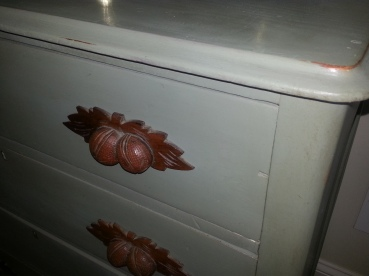 Cottage Chest with hand crafted walnut handles